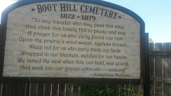 Boot Hill Museum : The boot hill cemetery. Part of the museum