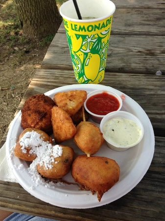 The Ohio Expo Center & State Fair : Fried oreos, fried cheese and ravioli with lemonade