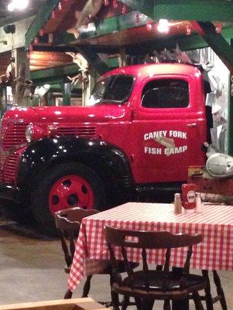 Caney Fork: Dinner view.