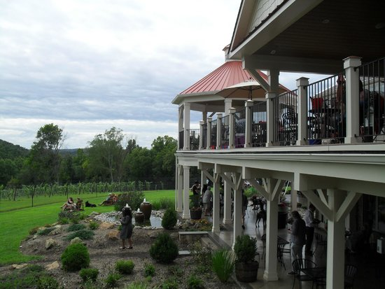 Cana Vineyards and Winery: side view, vineyards in background