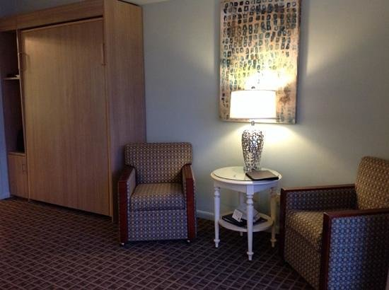 BEST WESTERN Ocean Reef Suites: Living room chairs. Murphy bed is the cabinet on left side of photo.
