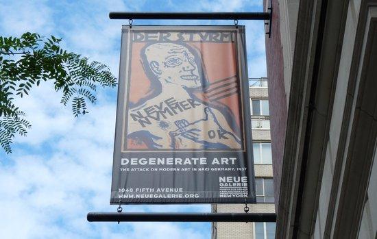 Neue Galerie : Degenerate Art Banner