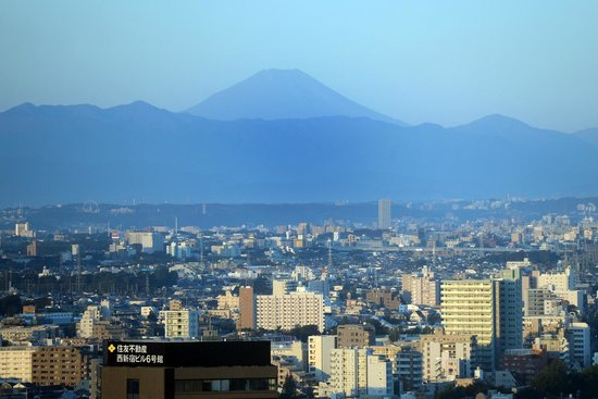 Hilton Tokyo : View of Mt Fuji from our room