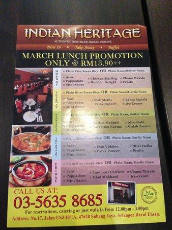 Indian Heritage Subang Jaya Restaurant Reviews Phone