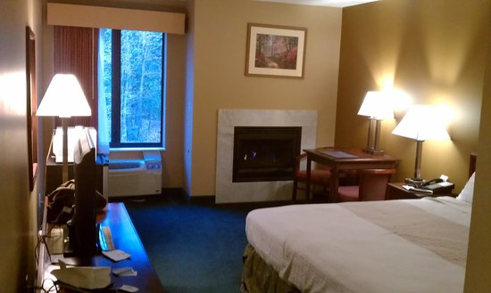 BEST WESTERN Plaza Hotel Saugatuck: King Bed W/ Fireplace Room