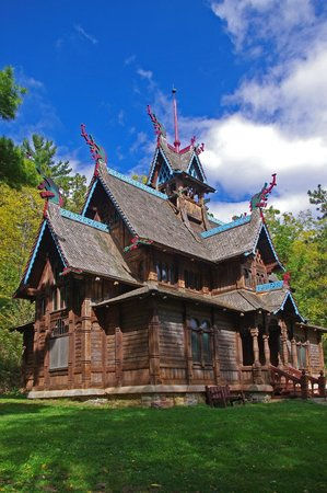 Little Norway: Closeup of Norway Stave Church