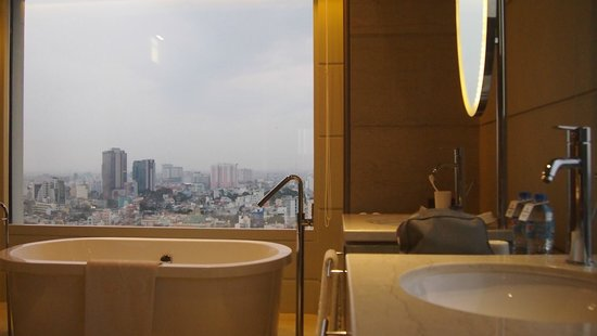 Hotel Nikko Saigon : Cityview from Bathroom