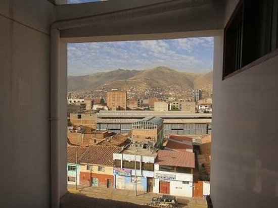 Hotel Mabey Cusco : レストランからの眺め