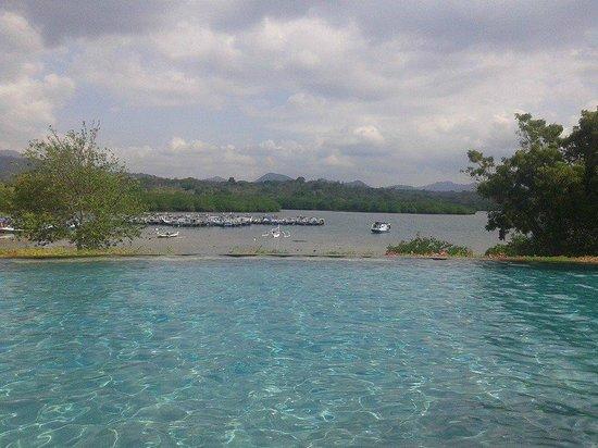Naya Gawana Resort & Spa: Swimming pool over view harbor and mountain