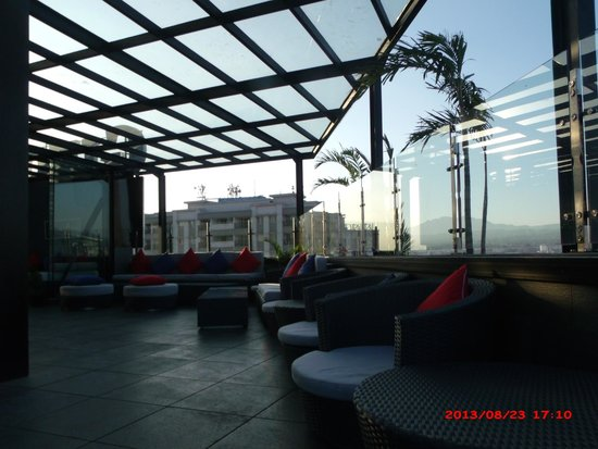 Gino Feruci Braga Hotel: this the place that you can enjoy sunset from 9th floor