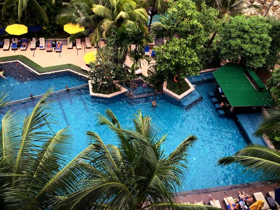 Novotel Phuket Kata Avista Resort and Spa: The main pool from our 5th floor club suite