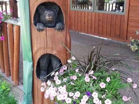 Bear Country USA: Loved the dozen or so pillar sculptures