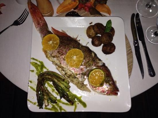 Los Altos de Eros: whole snapper dinner....yum
