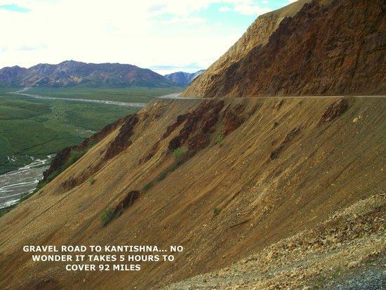 Kantishna Roadhouse : Very narrow twisty gravel road to Kantishna