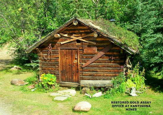 Kantishna Roadhouse: Restored Gold assay office from 1904