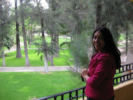 Mision Comanjilla: vista desde el balcón