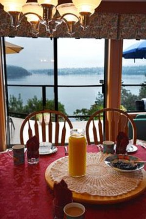 Stephenson Point Seaside B&B: Amazing view with breakfast