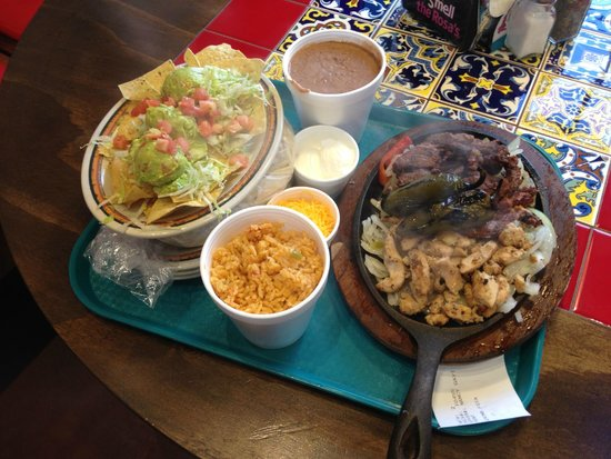 Rosa's Cafe and Tortilla Factory: The family combination fajita platter is large enough to feed four.