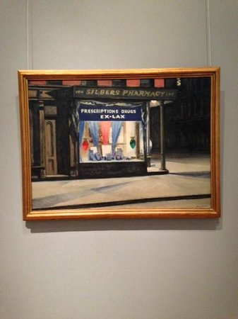 Museum of Fine Arts: Drug Store by Hopper