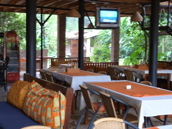 restaurant at the OutPost Lodge in Arusha