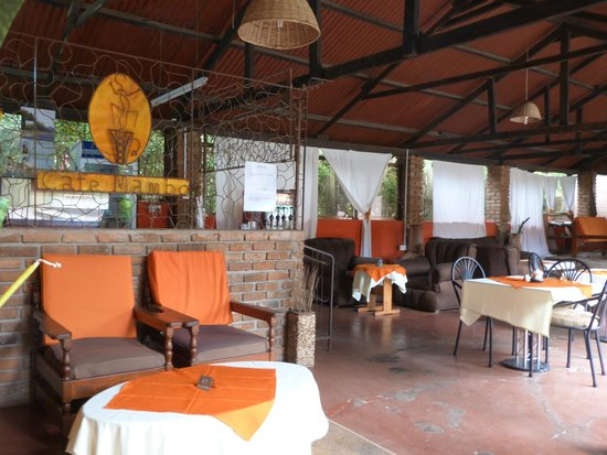 cafe at the OutPost Lodge in Arusha