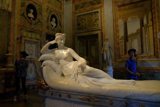 Galería Borghese: Pauline Bonaparte
