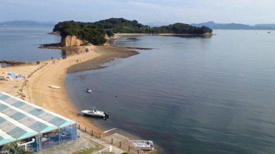 Shodoshima International Hotel : 部屋からの眺め(エンジェルロード)