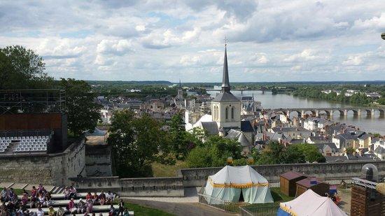 Château de Saumur : View from castle.