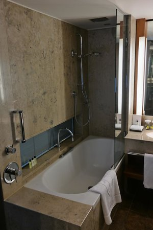 InterContinental Berlin: The bath/shower combination