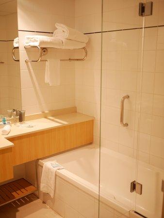 Novotel Sydney on Darling Harbour: shower room view