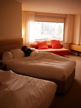 Novotel Sydney on Darling Harbour: view from bed