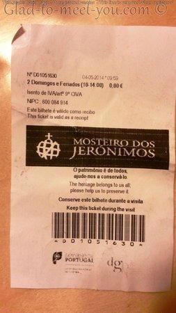 Jeronimos Monastery: The free entrance