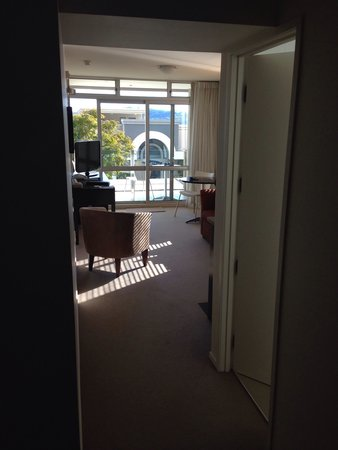 The Reef Resort - Heritage Collection: Loungeroom viewing from bedroom - kitchenette is around the corner