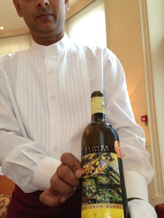 The Bombay Brasserie : Indian White wine