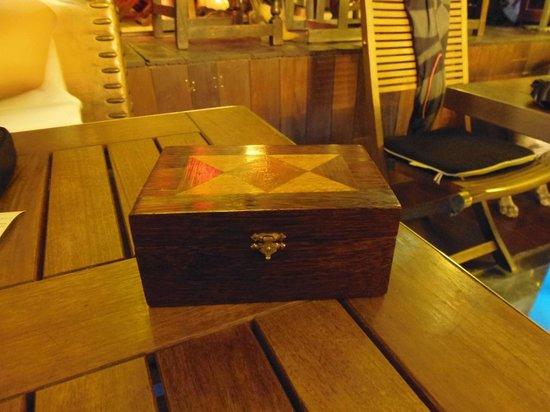 Restaurant U Libecciu : Lo scrigno del conto!