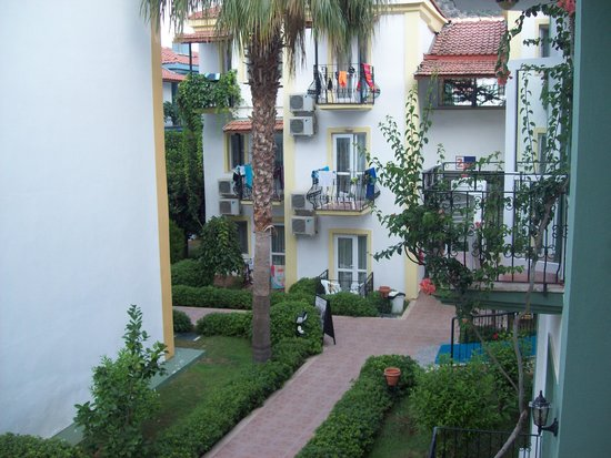 Karbel Hotel: view from our room block 7