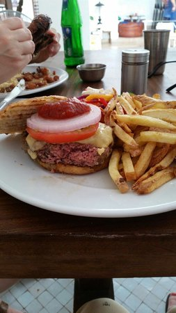 Cafe Clock : Camel burger  - ask for it well done if you don't like your meat pink inside!