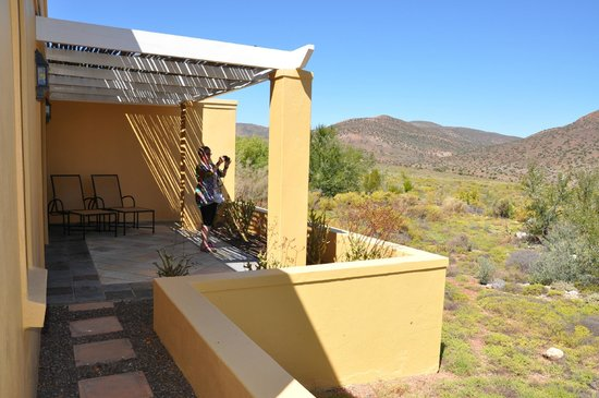 Sanbona Wildlife Reserve: The terrace