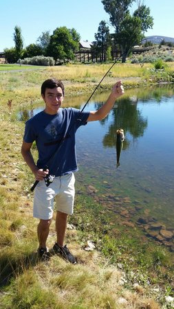 Brasada Ranch: stocked catch and release pond on the grounds