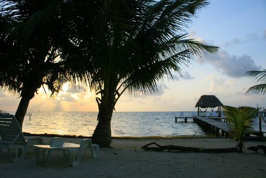 Barefoot Beach Belize: View from our rooms.
