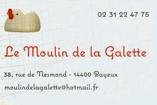 Menu Restaurant De La Galette Bayeux