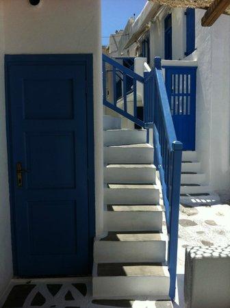 Eleanna's: Scale per accedere alle camere superiori