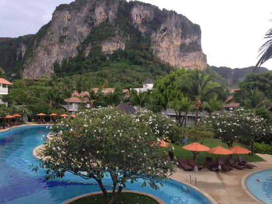Ao Nang Village Resort : The view from our balcony (Grand Superior room)