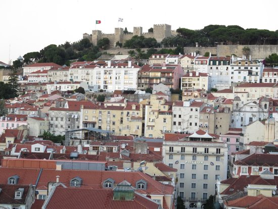 View from Santa Justa Lift - Sao Jorge castle