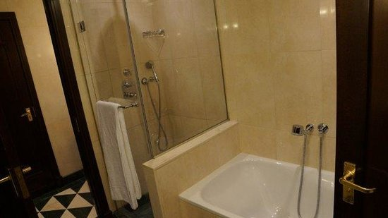Esplanade Zagreb Hotel : Shower in Main bathroom (has a bath too)