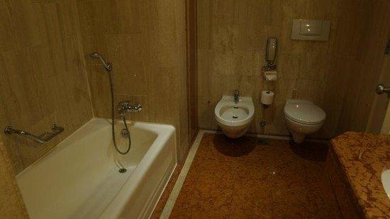 Marina Mandarin Singapore: Toilet and bath