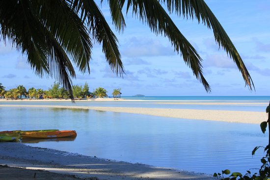 Aitutaki Village: View from the resturant