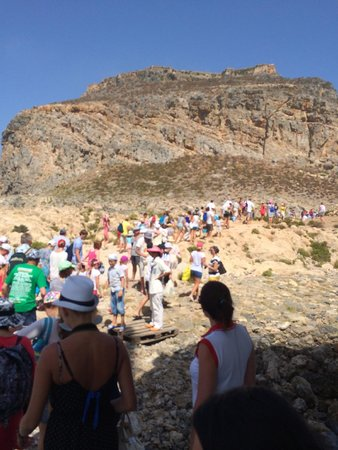 Cretan Daily Cruises : Mass exodus towards the fort. (not what you want to do first)
