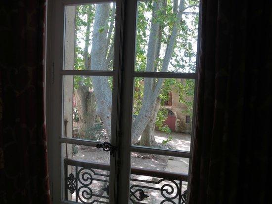 Chateau de Roussan : Vista desde la habitación Marthe