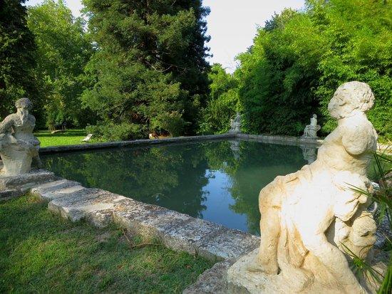 Chateau de Roussan : Estanque